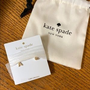 "Brand new ""A"" Kate spade earrings NWT"